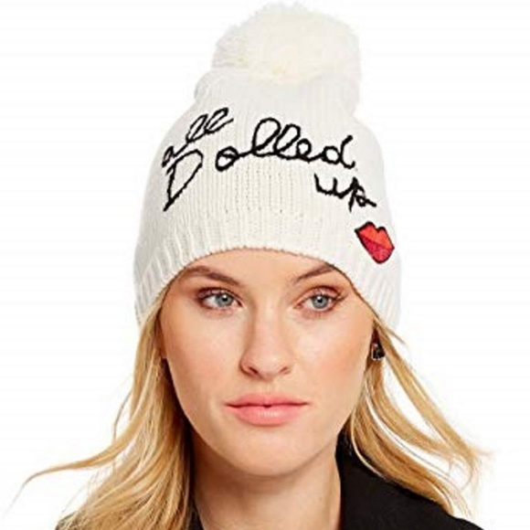 kate spade Accessories - Kate Spade All Dolled Up Beanie Cream O/S